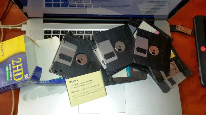 Floppies, floppies everywhere and not a drive to slot them in