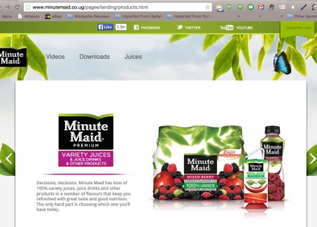 Minute Maid Uganda Products 1