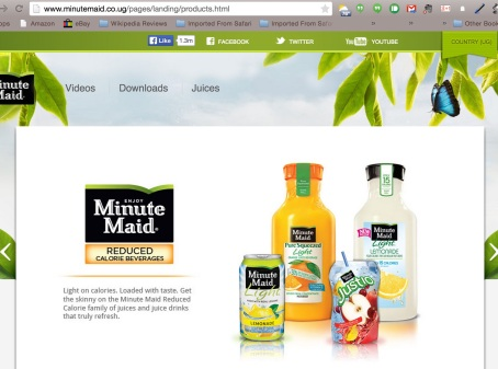 Minute Maid Uganda Products 2