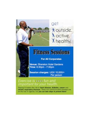 Sheraton Fitness Hour - Flier