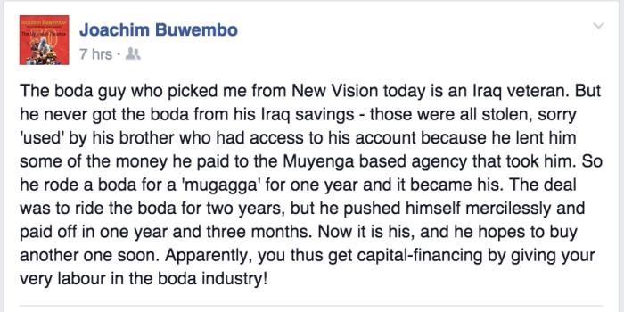 Jo Buwembo Post