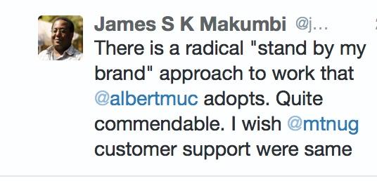 @jmakumbi First Tweet