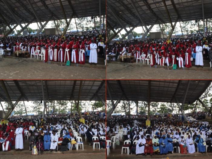 #PopeInUganda choir montage.001