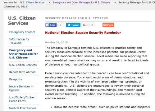 US Security Reminder over Elections