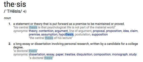 define-thesis