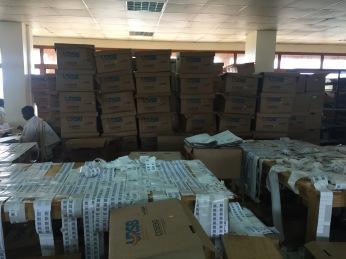 Part of the paperwork that occupied an entire floor (Photo: Simon Kaheru)