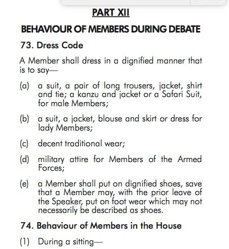parliamentary-dress-code