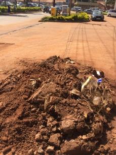 A pile of muddy sludge sitting comfortably at Shell Bugolobi (Photo: Simon Kaheru)